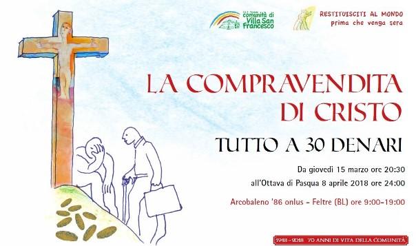 finest selection c4092 2cc85 LA COMPRAVENDITA DI CRISTO - Comunità Villa San Francesco